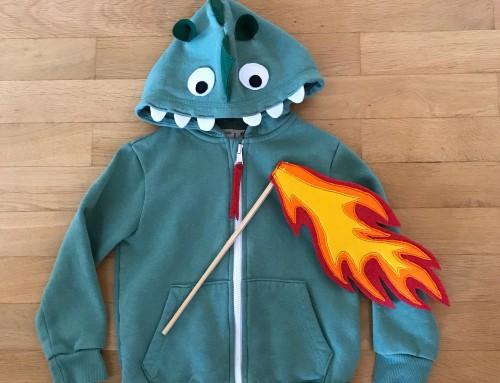 Kostüm: Feuer spuckender Drache ganz schnell genäht